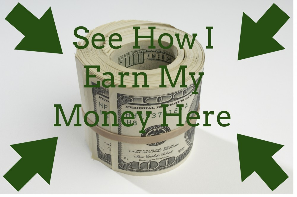 see how i earn my money here written over a roll of money