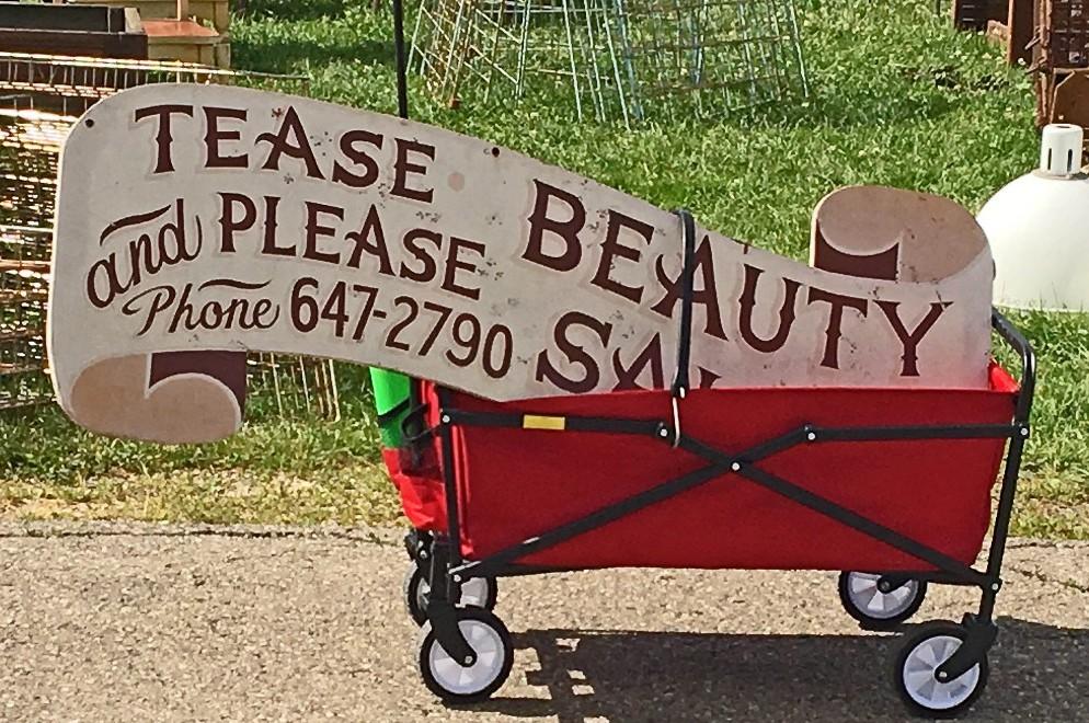 Vintage Sign Elkhorn Flea Market