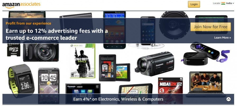Amazon Associates earning rates for the Indians