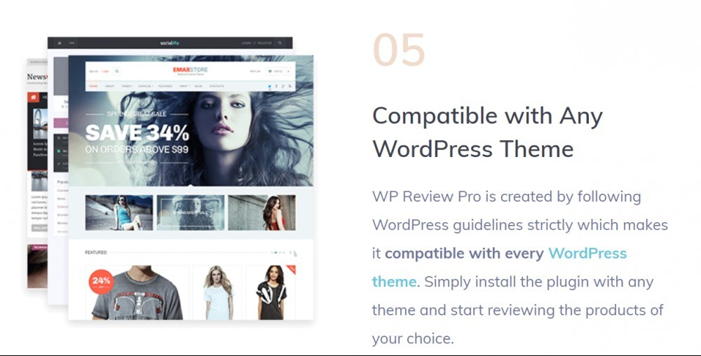 WP Review pro (compatible with any WordPress theme)