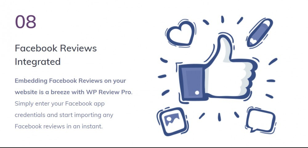 WP Review pro (facebook reviews integrated)