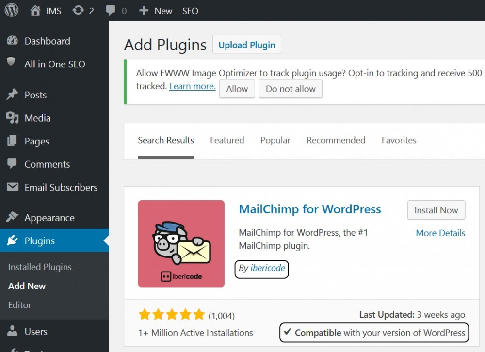 MailChimp for WordPress(WP plugin) by ibericode