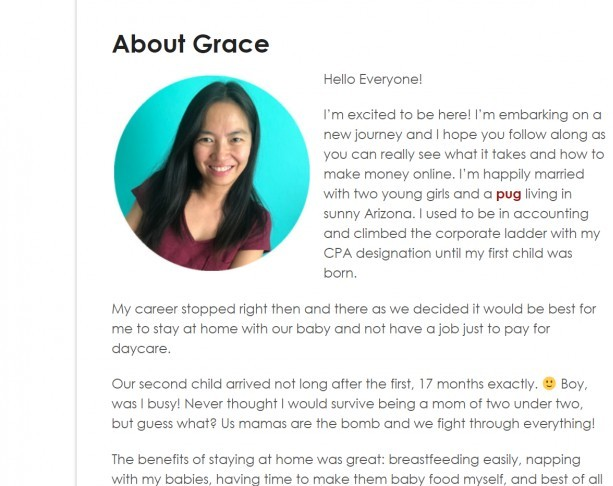 Grace (stay at home mum's story)
