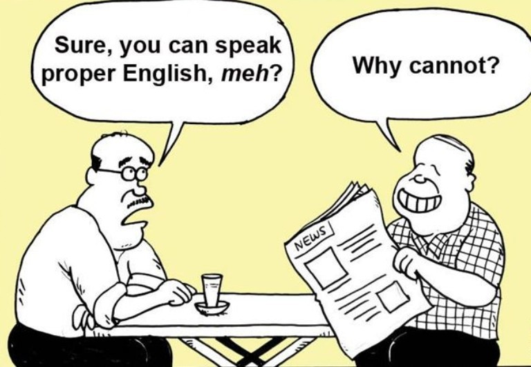 typical malaysian english in our daily lives(cartoon version)