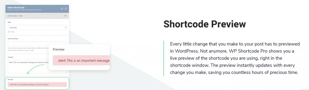 WP Shortcode Pro (Shortcode preview)