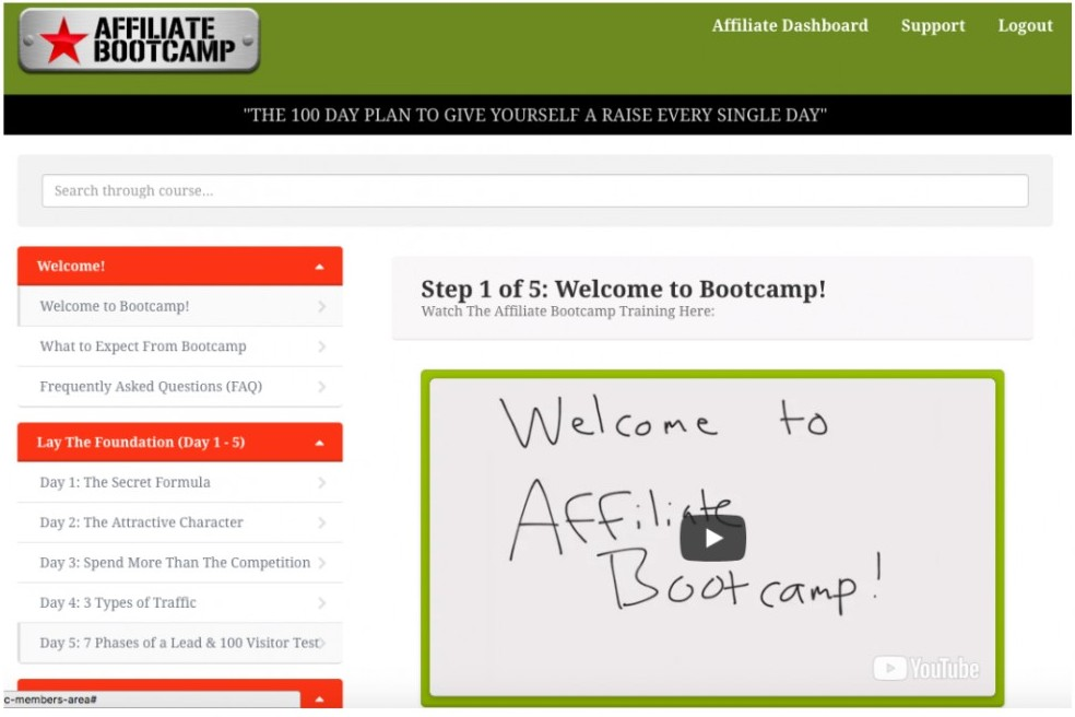 ClickFunnels Affiliate Bootcamp Dashboard