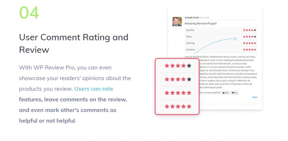 WP Review pro (user comment rating & review)