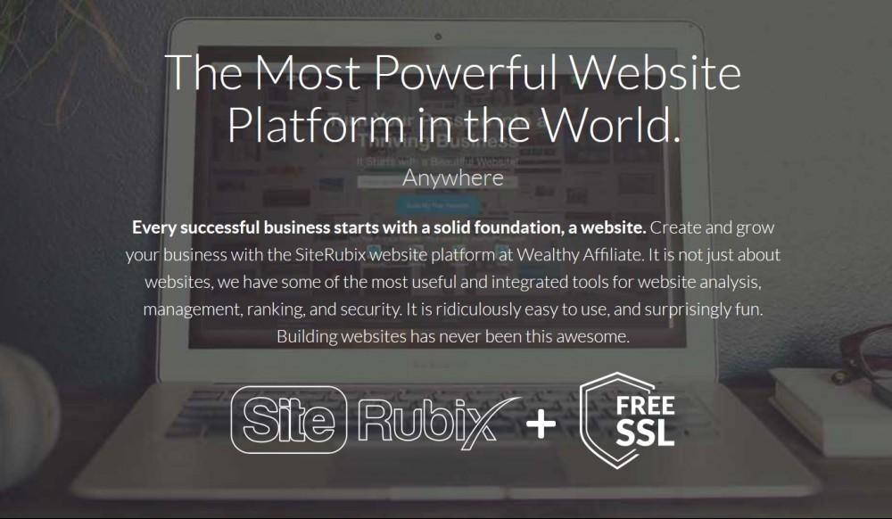 SiteRubix's homepage