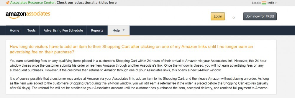 Amazon's 24 hours cookie duration thourough explanation