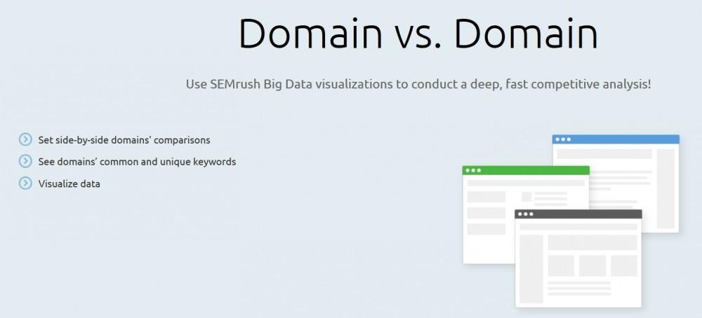 SEMrush's domain vs domain feature