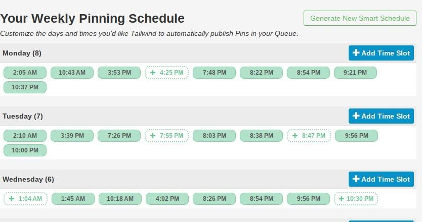 tailwind app schedule