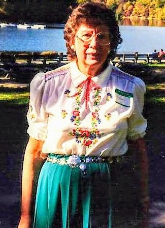 Helen Russell Doland of Millbrook, New York in the summertime