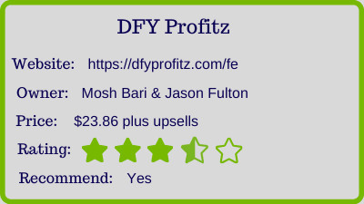 dfy protitz review - rating