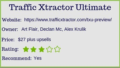 what is traffic xtractor ultimate rating