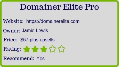 what is the domainer elite rating