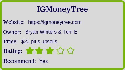 The IG Money Tree review (rating)