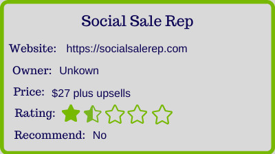 what is the social sale rep - rating