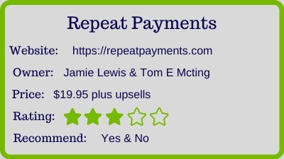 the Repeat Payments Review - rating