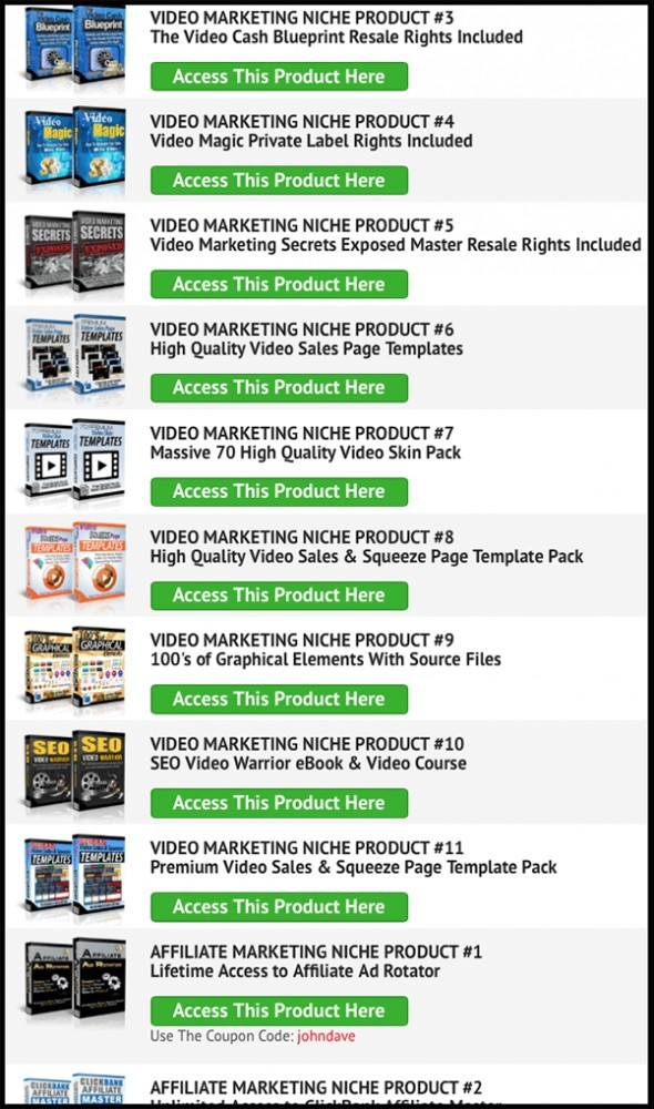 the niche marketing kit has 63 products & tools
