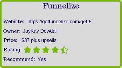 Funnelize review rating
