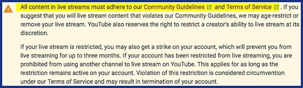 does pag ranke follow youtube community guidelines
