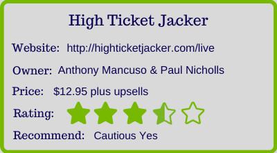 High Ticket Jacker review - rating