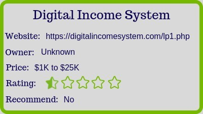 Digital Income system review (rating)