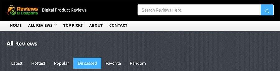 ReviewsnCoupons.com has oto