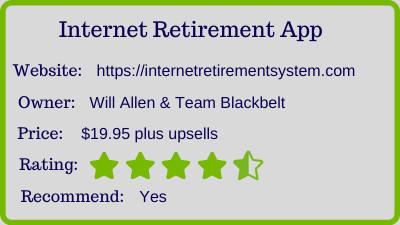 Internet Retirement App review - rating