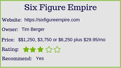 the six figure empire review and ratings