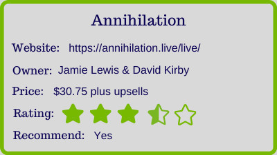 the Annihilation Review - rating
