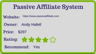 passiveaffiliate review rating