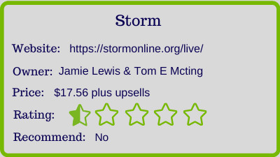 storm review - rating