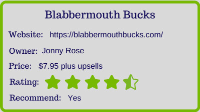 the blabbermouth bucks review - rating