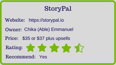 The StoryPal review - rating