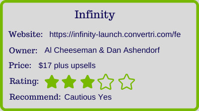 Al Cheeseman Infinity review - rating