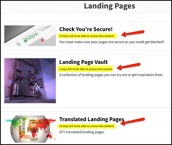 access to landing page vault for google adwords campaign