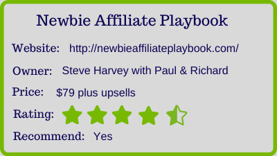 The Newbie Affiliate Playbook review - rating