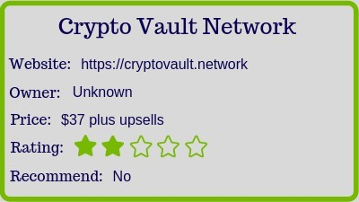 the Crypto Vault review (Rank)