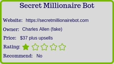 The Secret Millionaire Bot review rating