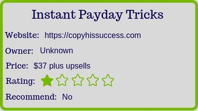 The Instant Payday Tricks review (rating)