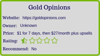 the gold opinions review rating