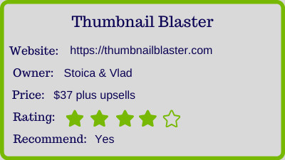 thumbnail blaster review - rating