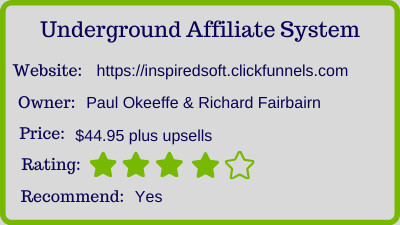 the Underground Affiliate System Review rating