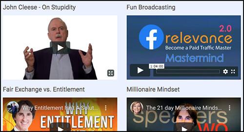 multiple videos on mindset