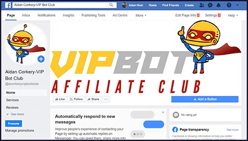 vipbot is a product to promote