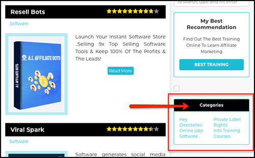 create categories for all your reviews