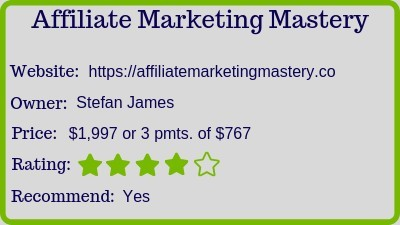 affiliate marketing mastery review rating