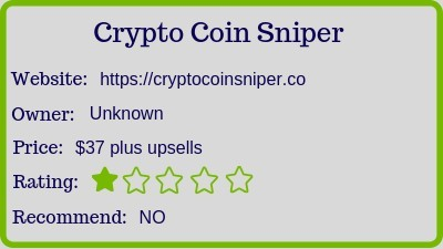 crypto sniper review rating