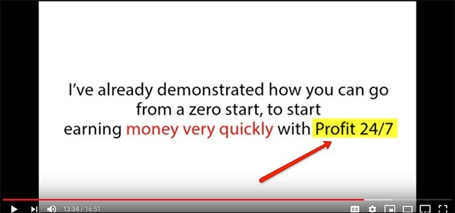 promo video not changed from Profit 24/7